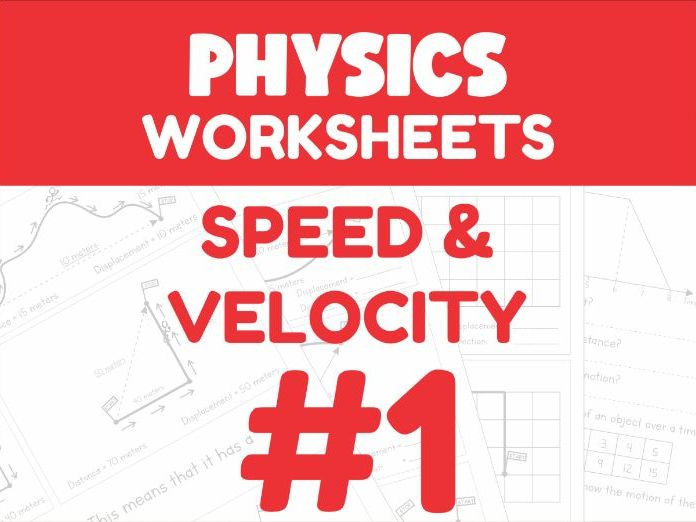 Speed & Velocity - Motion Worksheet #1 (Distance Learning Support)