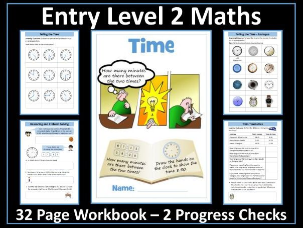 Time AQA Entry Level 2 Maths