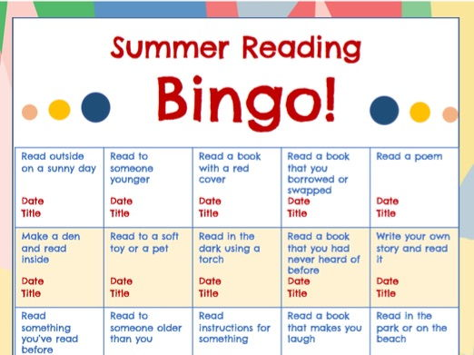 Summer Holiday Reading Bingo!