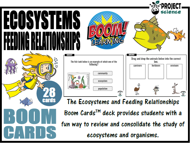 Ecosystems and Feeding Relationships Boom Cards™ - Distance Learning