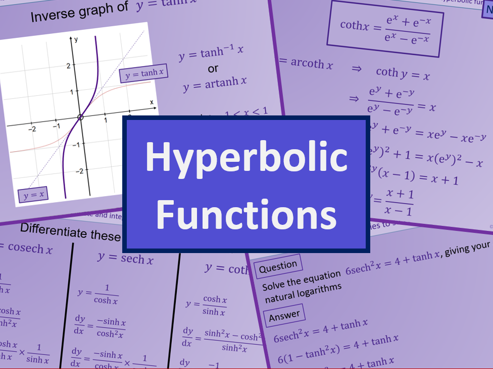 Hyperbolic functions - Further maths A level A2