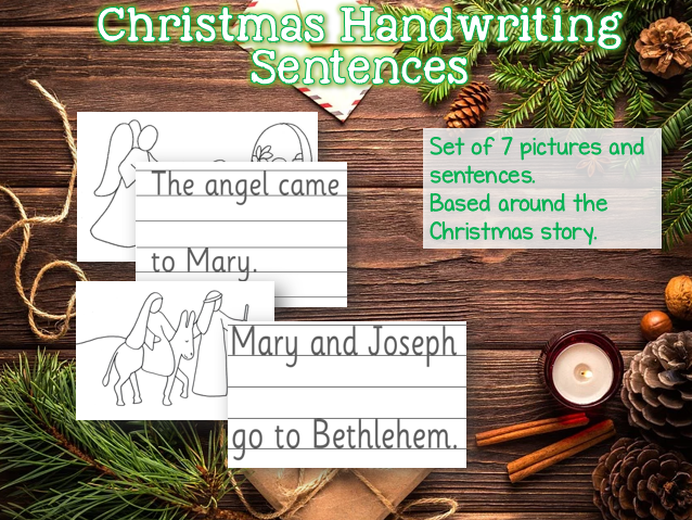 Christmas Story Handwriting Sheets for EYFS SEN