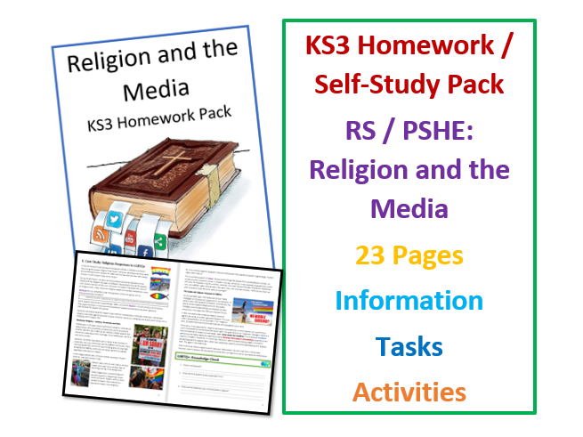 KS3 RS and PSHE Workbook: Religion and the Media for Self-Study