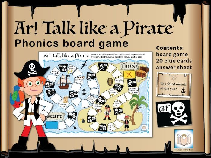 Ar! Talk like a Pirate Phonics Board Game