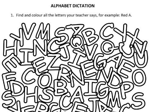 Alphabet Dictation