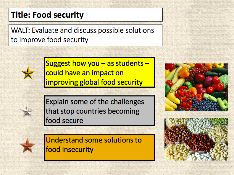 Food insecurity - 2 full lessons