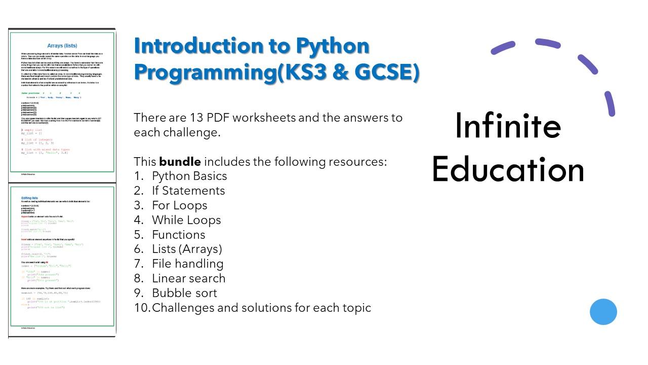Introduction to Python Programming (KS3 & GCSE)