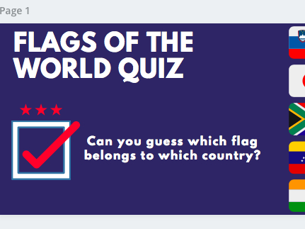 Geography Quiz Locations, Flags & Capitals