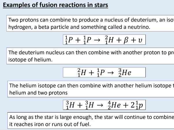 AQA GCSE Physics (4.4.4.2) Atomic structure - Nuclear fusion