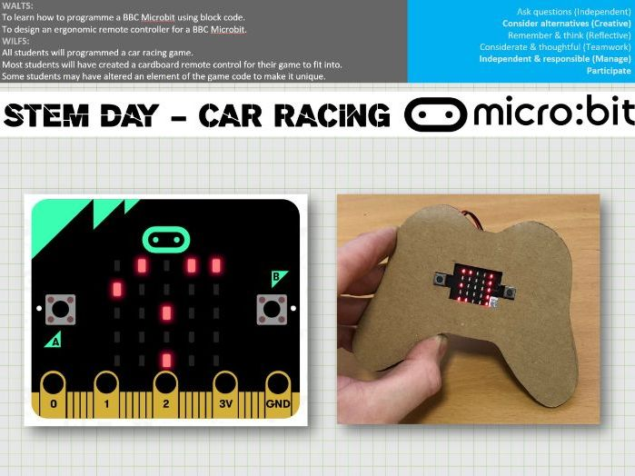 STEM PROJECT - BBC Microbit car racing game and controller