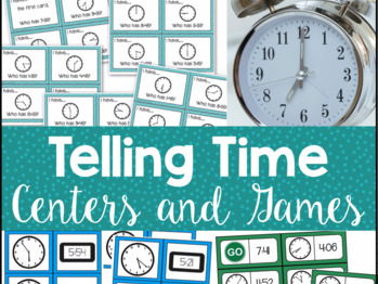 Telling Time Centers and Games
