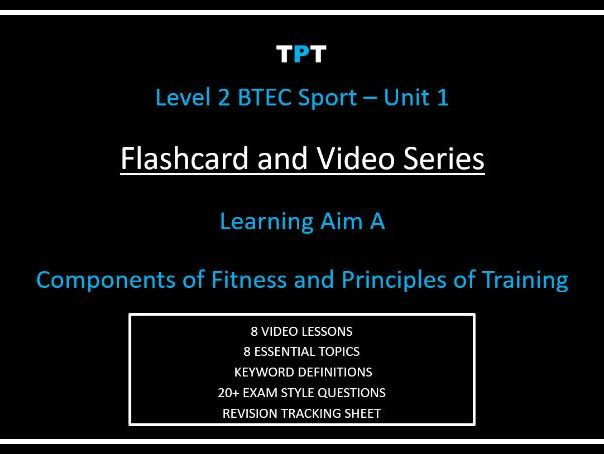 (L2) BTEC Sport Unit 1 VIDEO SERIES and FLASHCARD PACK