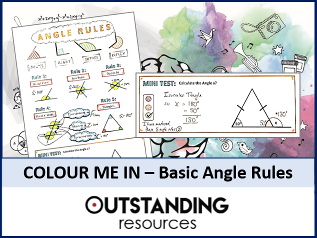 Colour Me In Sheets (Doodle Notes) - ANGLE RULES