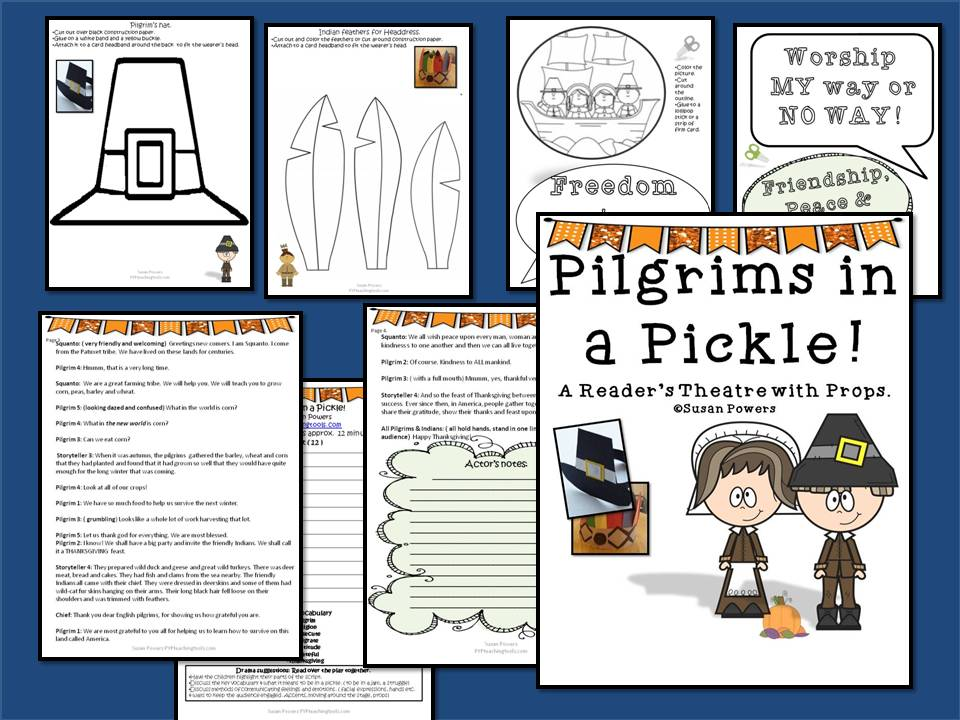 Pilgrims in A Pickle! A Thanksgiving Reader's Theatre Activity with Props