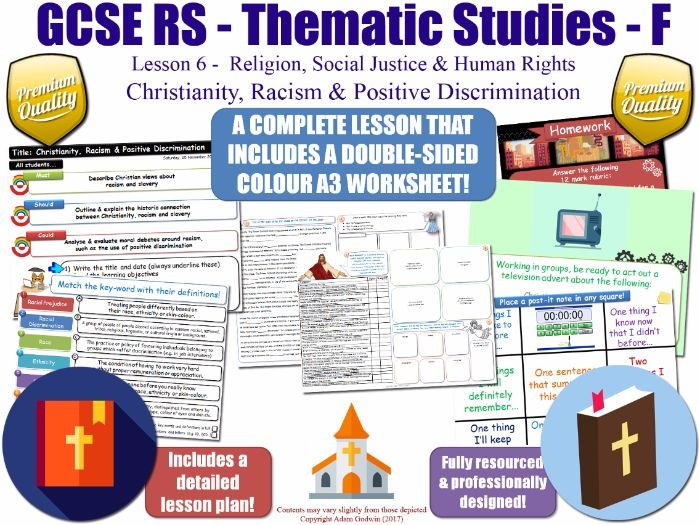 Christianity, Racism & Positive Discrimination [GCSE RS - Human Rights & Social Justice - L6/10]