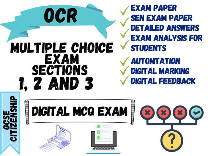 GCSE Citizenship OCR - MCQ Exam paper
