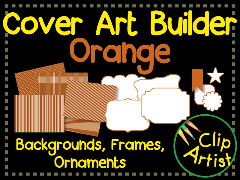 Cover Builder for Authors and Presentations - Orange