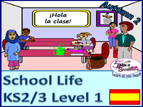 SIX LESSON PRIMARY KS2/3 SPANISH UNIT:instructions, register, class objects, 1-12, time on hour etc.