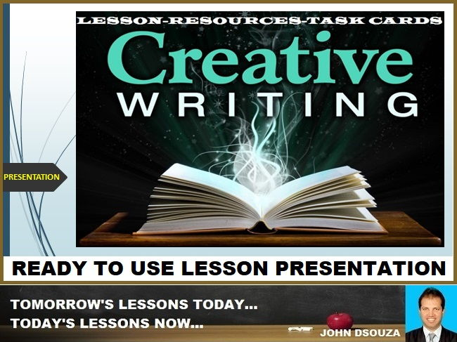 CREATIVE WRITING - READY TO USE LESSON PRESENTATION