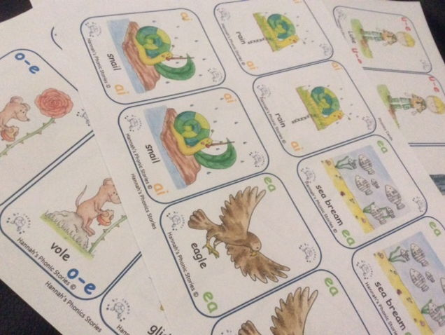 Hannah's Phonic Stories; Phonics Card Game, Set 2