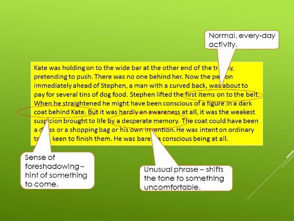 AQA Language Paper 1 Qus 1 to 3 - Ian McEwan texts