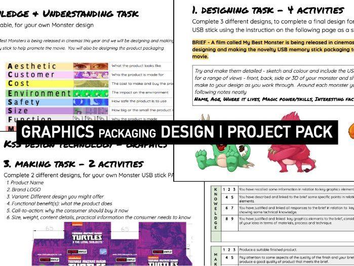 GRAPHIC DESIGN | Packaging Design Booklet | KS3 DT