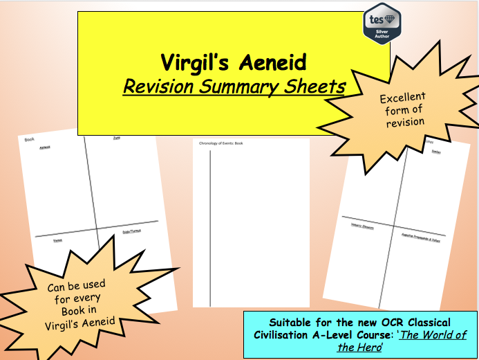 Virgil's Aeneid Revision Summary Sheets