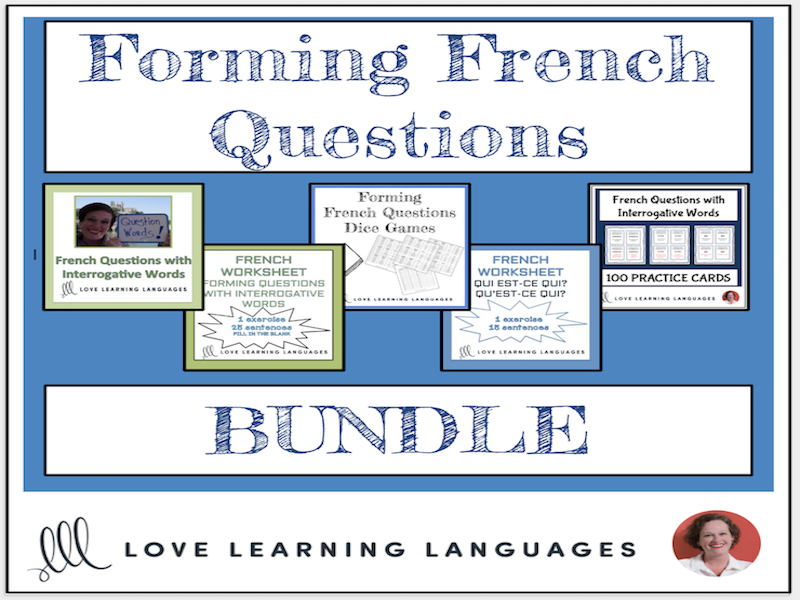 Forming French Questions BUNDLE