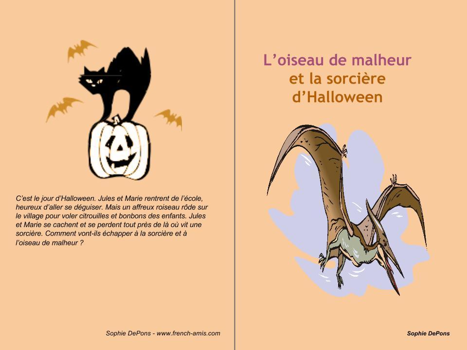 Halloween - french story and exercises-   L'oiseau de malheur et la sorcière