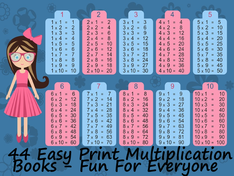 44 Mini Books x2 to x12 Multiplication Times Table Tests - 4 per table +  answers + Instructions