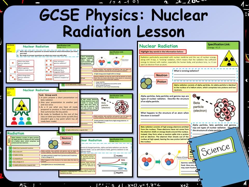 AQA KS4 GCSE Physics (Science) Nuclear Radiation Lesson