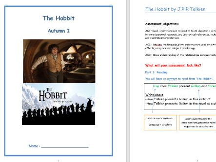 Teaching 'The Hobbit' - Unit of work (Everything you need to teach KS3)