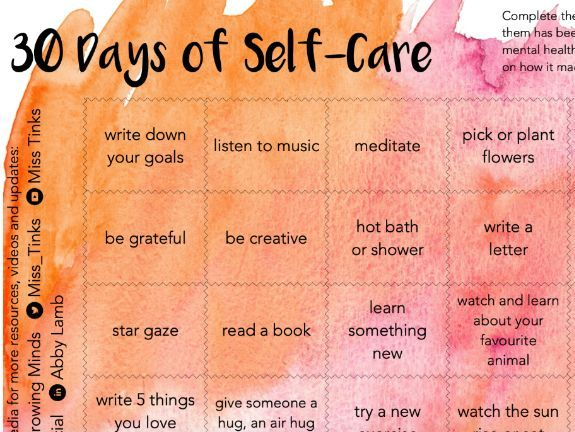 30 Days of Self-Care - Wellbeing