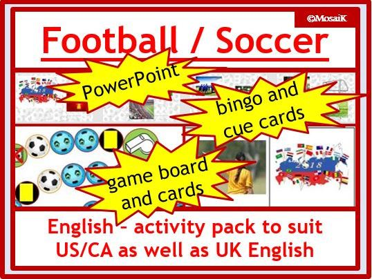 English, ESL -  football:  Soccer / Football Activity Pack