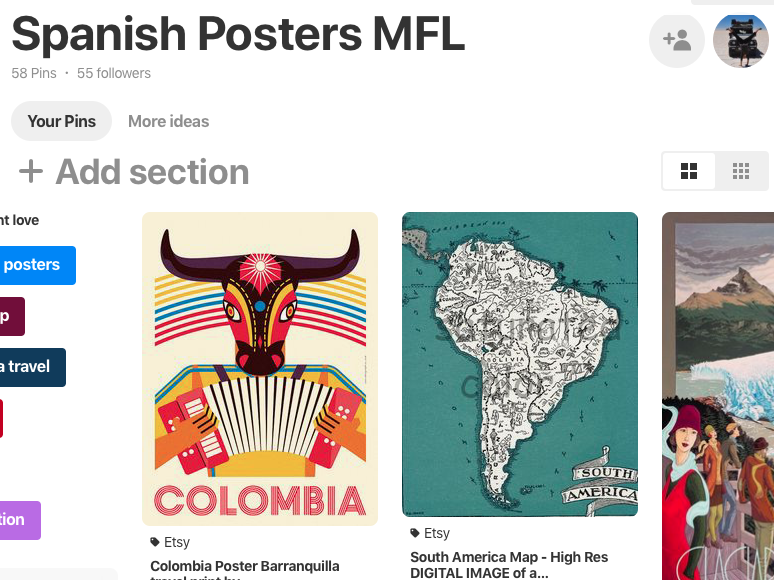 Spanish posters MFL - Pinterest board of display and poster ideas