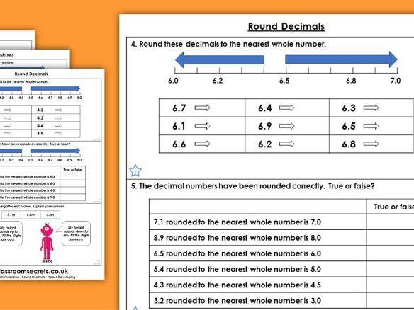 Year 4 Round Decimals Block 1 Maths Homework Extension