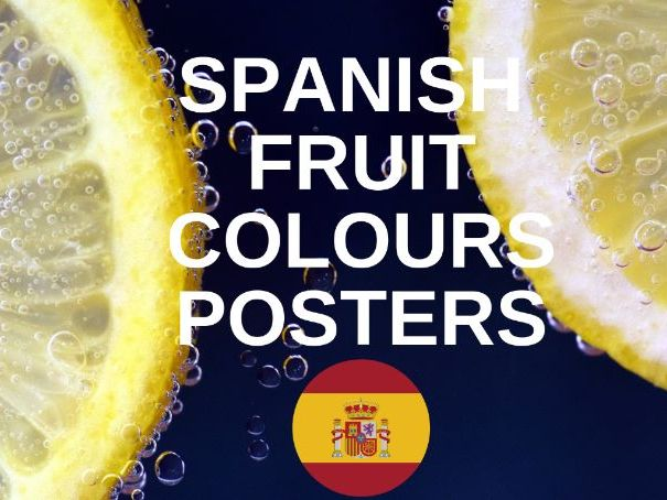 Spanish Colours Posters (Fruit)