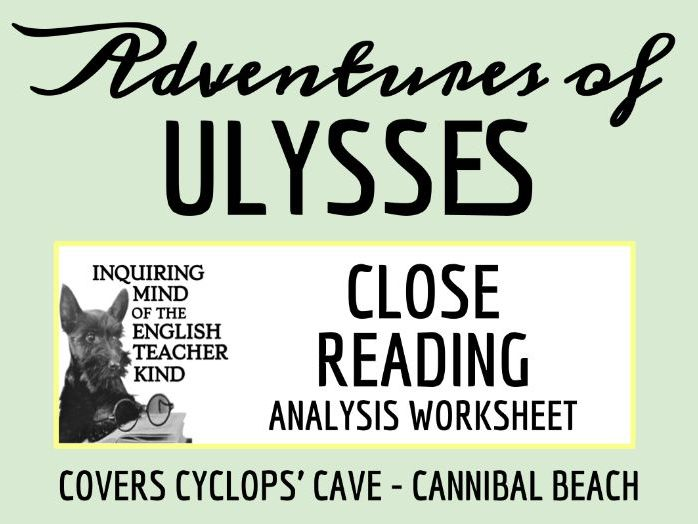 The Adventures of Ulysses Close Reading Worksheet (Cannibal Beach - Cyclops' Cave)