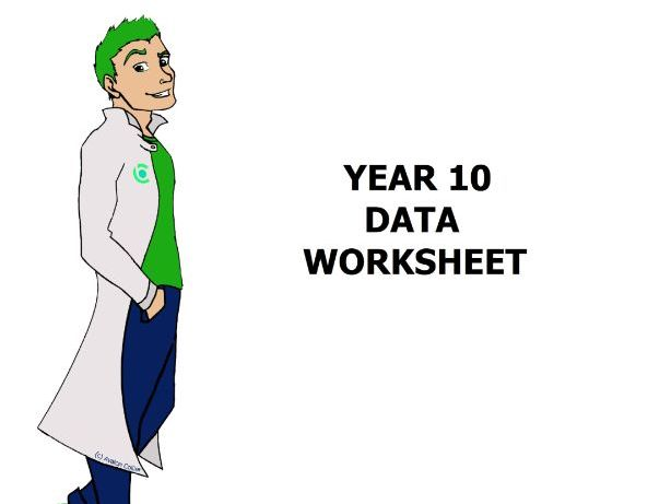 Data Worksheet Year 10