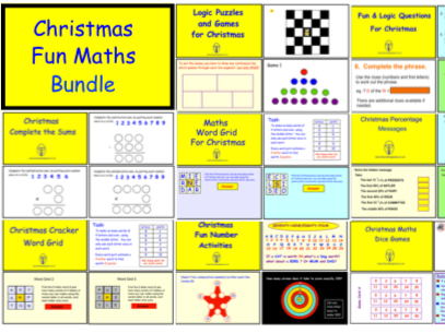 Christmas Fun Maths Bundle (pdf version)