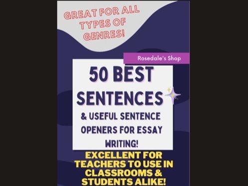 Argument Writing 50 BEST Sentence Starters & Complete Sentences
