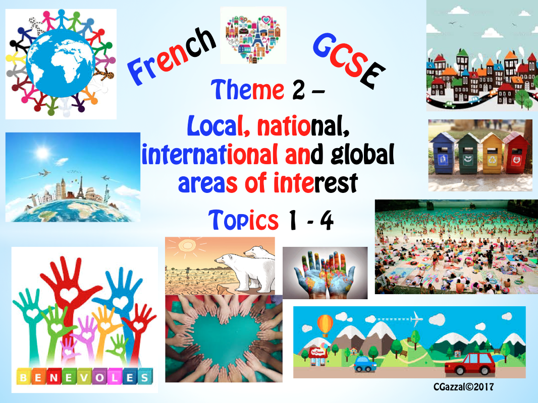 French GCSE New Specifications -Theme 2 – Local, national, international and global areas of interest