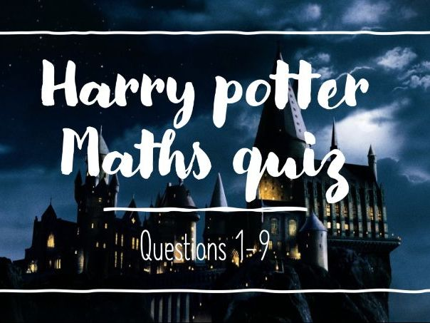 Harry Potter Halloween Maths Quiz Resource