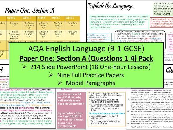 AQA English Language Paper 1 Section A