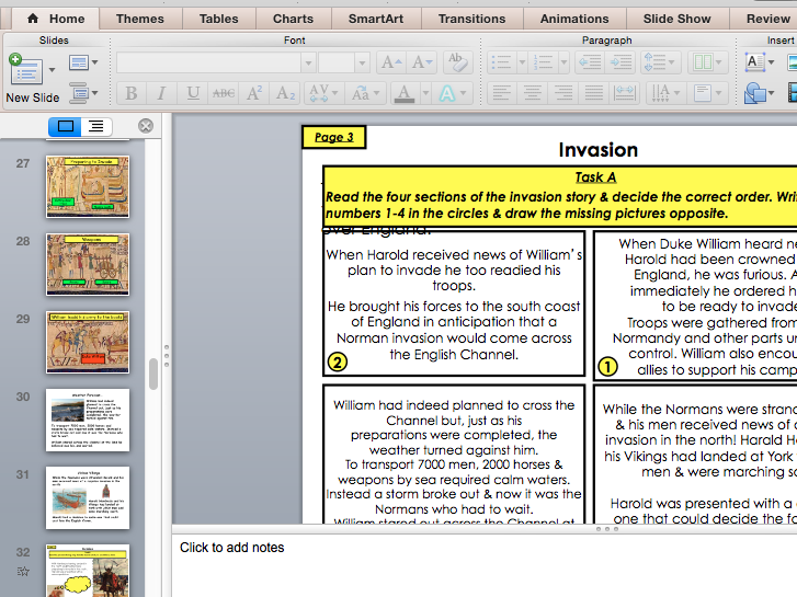 The Norman Invasion of England (PowerPoint to accompany pupil workbook)