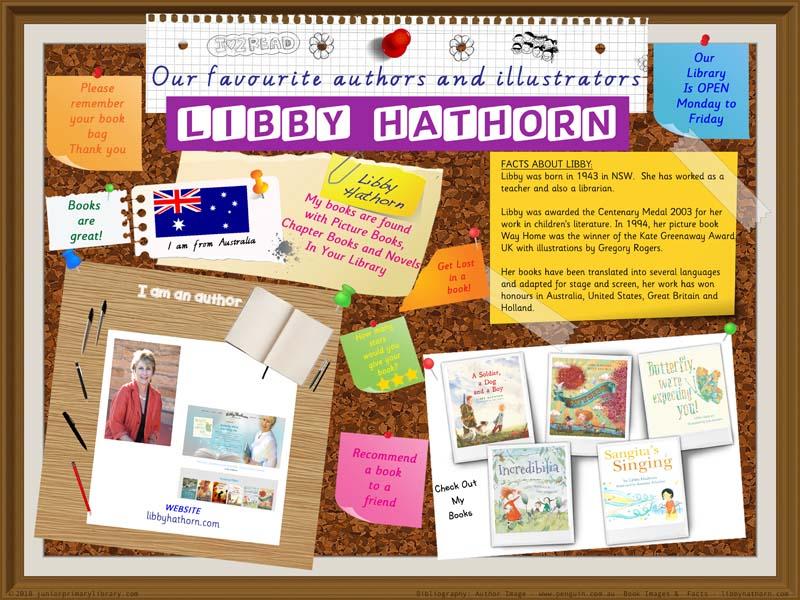 Library Poster - Libby Hathorn Australian Children's Author