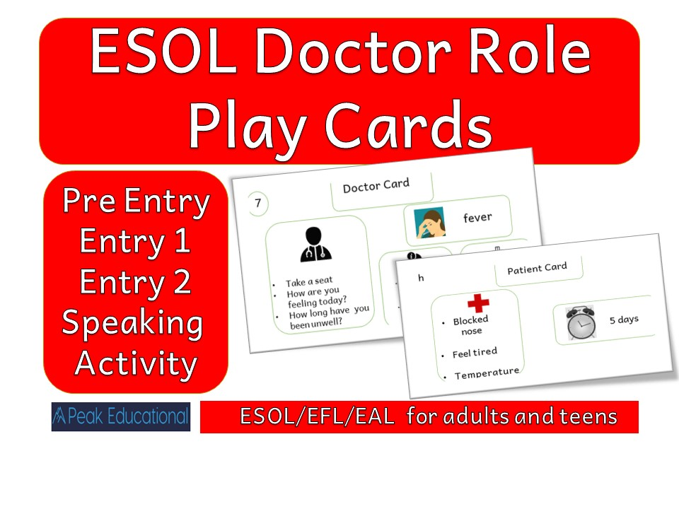 ESOL/EFL/EAL  Doctor Role Play Cards