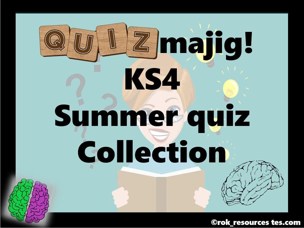 Summer Quiz KS4 pack