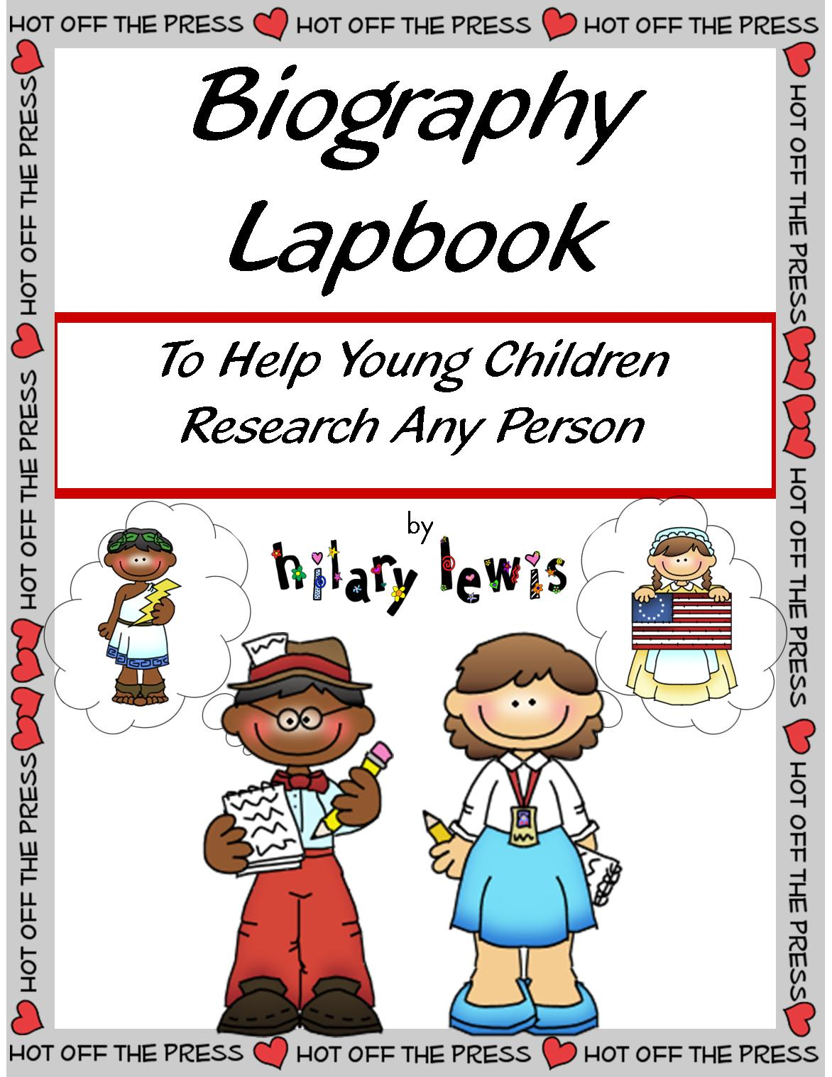 Biography Lapbook to Research Any Person with an Emphasis on Character Traits
