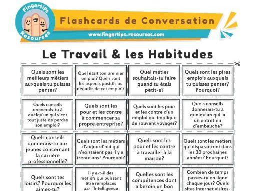 Le Travail & les Habitudes - French Conversation Flashcards